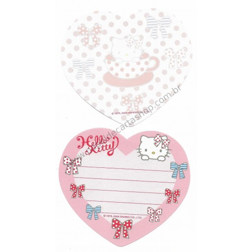 Ano 2005. Kit 2 Notinhas Hello Kitty Cup Sanrio