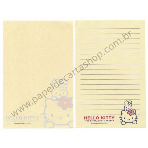 Ano 1999. Kit 2 Notas Hello Kitty Itty-Bitty CBG Sanrio