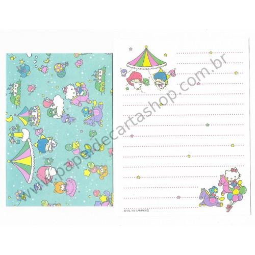 Ano 2015. Conjunto de Mini-Papel de Carta Hello Kitty & SANRIO CHARACTERS Fun All Around 1