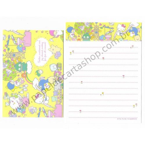 Ano 2015. Conjunto de Mini-Papel de Carta Hello Kitty & SANRIO CHARACTERS Fun All Around 2