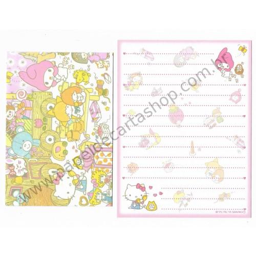 Ano 2015. Conjunto de Mini-Papel de Carta Hello Kitty & SANRIO CHARACTERS Fun All Around 3