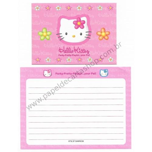 Ano 1997. Conjunto de Papel de Carta Hello Kitty Pal P Antigo (Vintage) Sanrio
