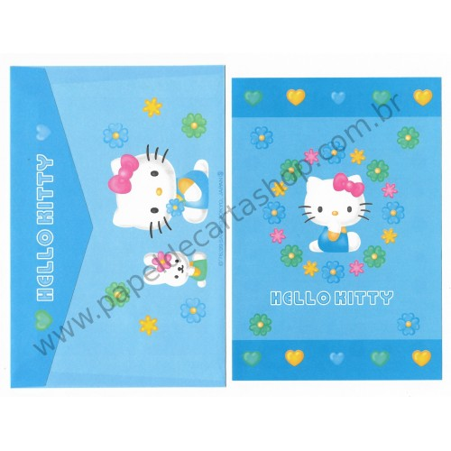 Ano 1999. Conjunto de Mini-Papel de Carta Hello Kitty CAZ Sanrio