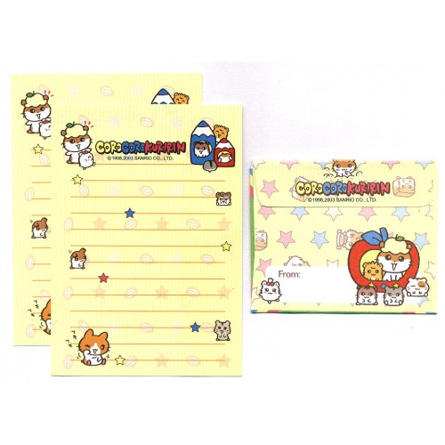 Ano 2003. Conjunto de Mini-Papel de Carta CoroCoroKuririn Vintage Sanrio
