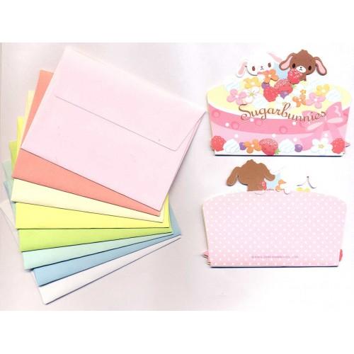 Ano 2009. Kit Mini-Cartão de Mensagem Sugarbunnies Sanrio