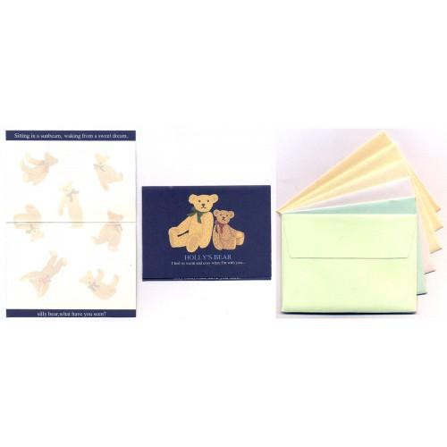 Ano 1997. Kit Mini-Cartão de Mensagem Holly's Bear Vintage Sanrio