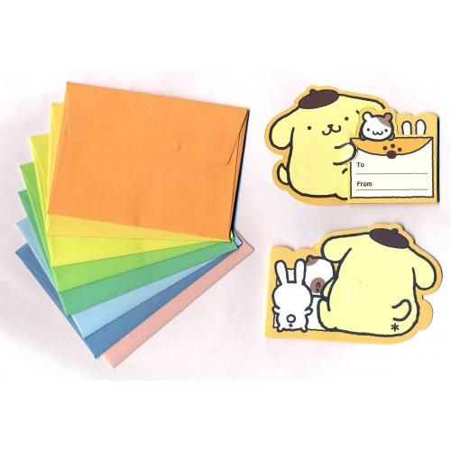Ano 2011. Kit Mini-Cartão de Mensagem Pompompurin Vintage Sanrio