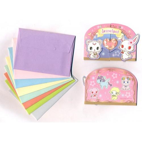 Ano 2011. Kit Mini-Cartão de Mensagem Jewelpet II Sanrio