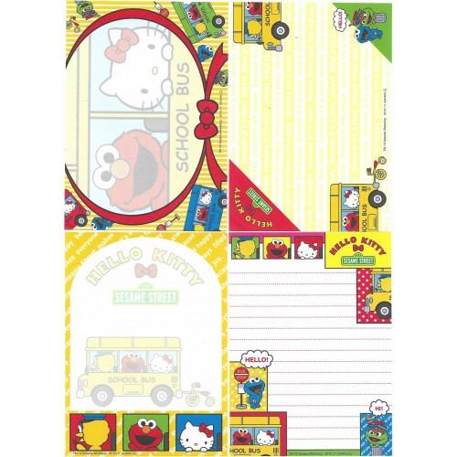 Ano 2011. Kit 4 Notas Hello Kitty & Sesame Street Sanrio