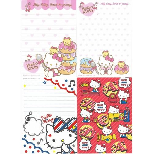 Ano 2012. Kit 8 Notas Hello Kitty Sanrio