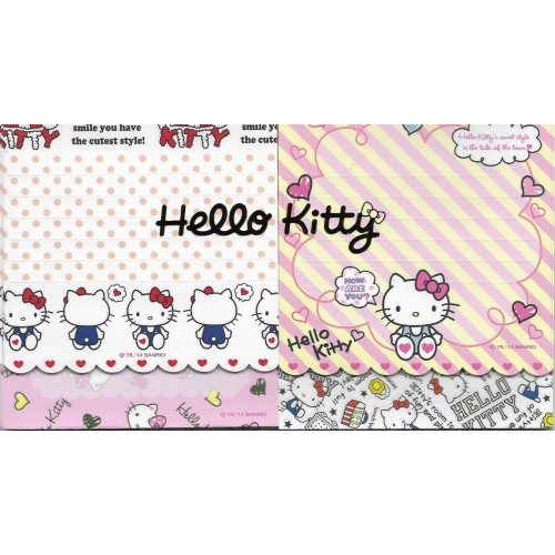Ano 2014. Kit 5 Notas Hello Kitty Sanrio