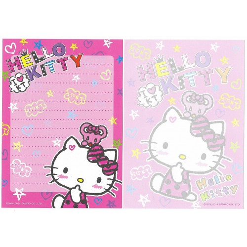 Ano 2014 Kit 2 Notas Hello Kitty I Love KT Sanrio