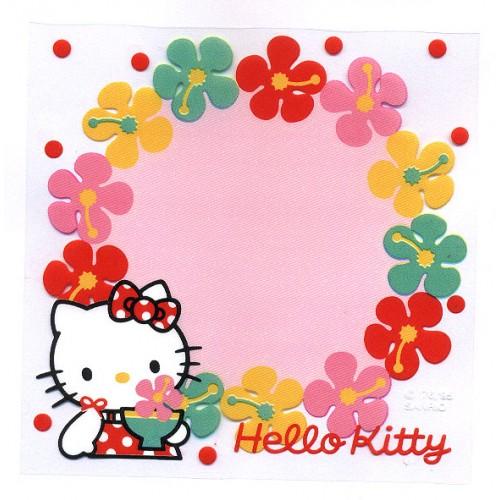 Ano 1995. Nota Hello Kitty (Plástico) Flores Vintage Sanrio