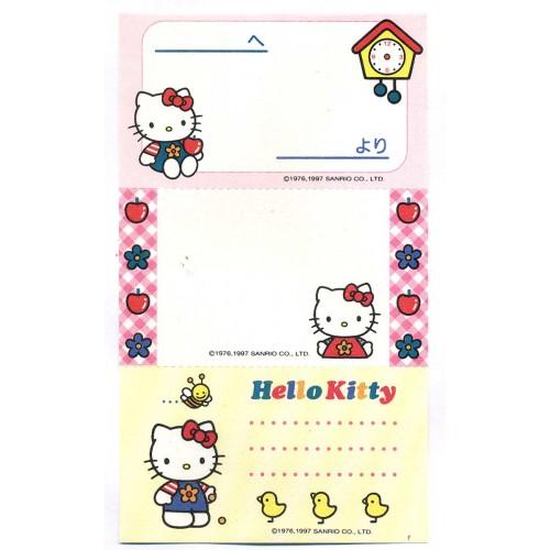 Ano 1997. Nota Hello Kitty Kind & Pretty Vintage Sanrio