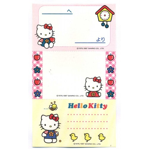 Ano 1997. Nota Hello Kitty Kind & Pretty Vintage Sanrio
