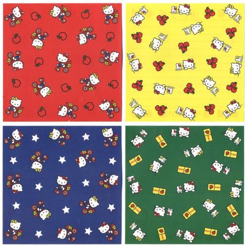 Ano 2000. Kit 4 Notas Hello Kitty I Love Apples Vintage Sanrio