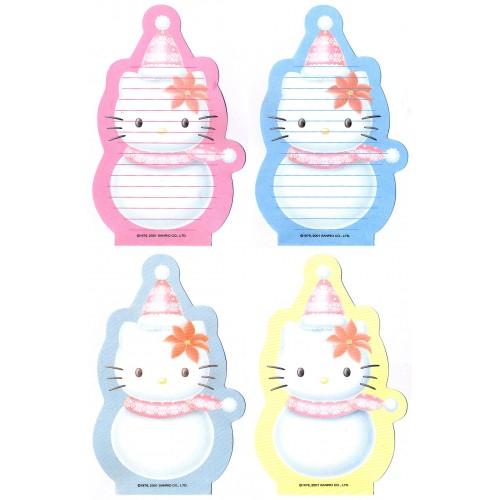 Ano 2001. Kit 4 Notas Hello Kitty in the Snow Vintage Sanrio
