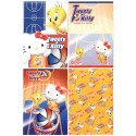Ano 2002. Kit 4 Notas Hello Kitty & Tweety PBasketball Sanrio