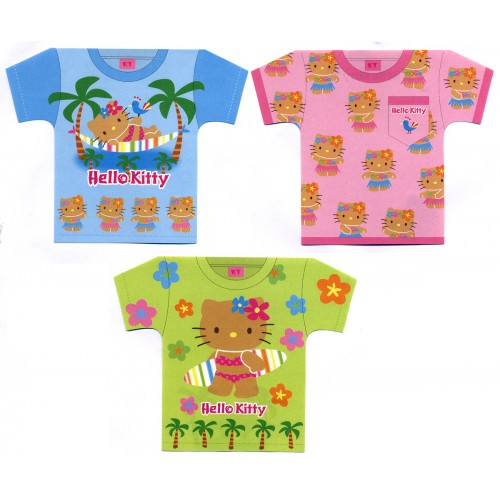 Ano 2003. Kit 3 Notas Hello Kitty Camiseta Sanrio