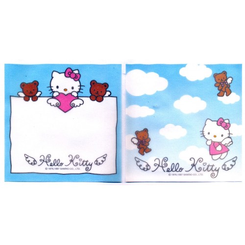 Ano 1997. Kit 2 Notas Hello Kitty Angel Vegetal Vintage Sanrio