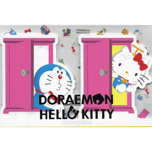 Ano 2016. Kit 2 Mini Papéis de Carta DORAEMON & Hello Kitty CRS Sanrio