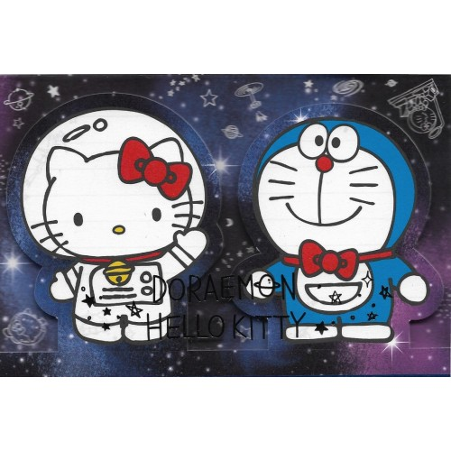Ano 2016. Kit de 2 Mini Papéis de Carta DORAEMON & Hello Kitty CBM Sanrio