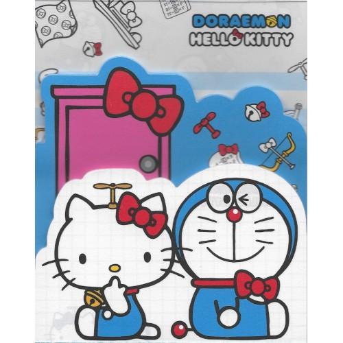 Ano 2016. Kit de 3 Mini Papéis de Carta DORAEMON & Hello Kitty Sanrio