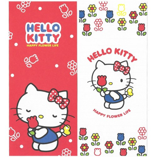 Ano 2014 Kit 2 Notas GRANDES Hello Kitty Happy Flower Life Sanrio