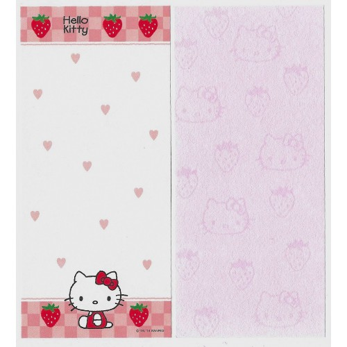Ano 2014 Kit 2 Notas GRANDES Hello Kitty Made In Japan (STR) Sanrio