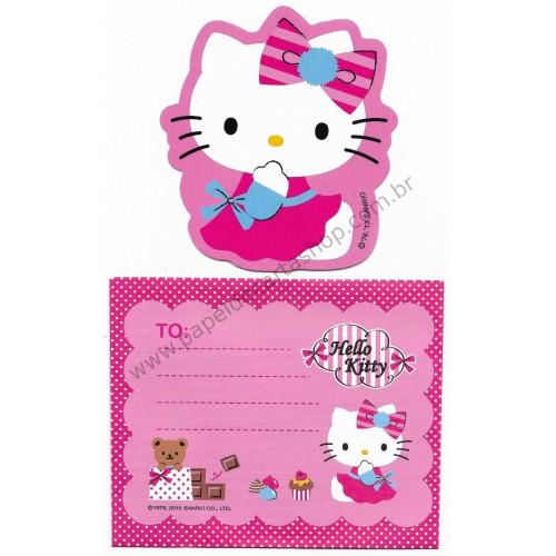 Ano 2013. Cartão Pequeno Hello Kitty & Cupcake (CRS) Sanrio