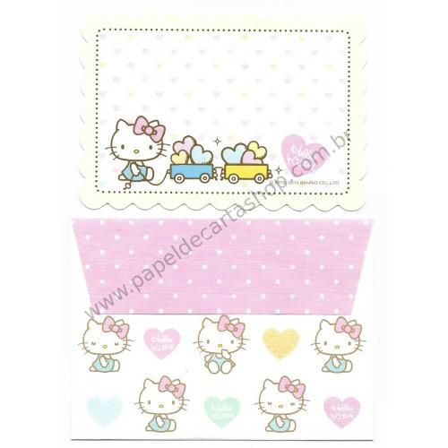 Ano 2015. Kit Mini-Cartão de Mensagem Hello Kitty Train Sanrio