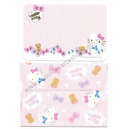 Ano 2015. Kit Mini-Cartão de Mensagem Hello Kitty Ribbons Sanrio