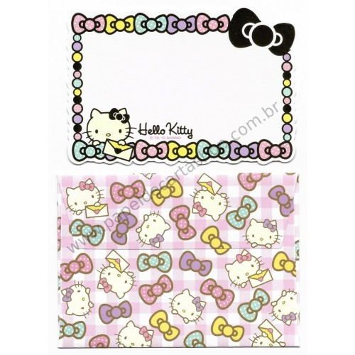 Ano 2015. Kit Mini-Cartão de Mensagem Hello Kitty Ribbons (CDD) Sanrio