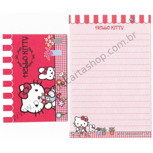 Ano 2009. Conjunto de Mini-Papel de Carta Hello Kitty (CVMLT) Sanrio