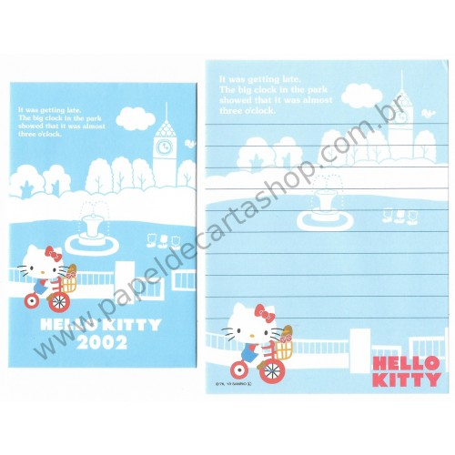 Ano 2013. Conjunto de Mini-Papel de Carta Hello Kitty 40th (2002 CAZ) Sanrio