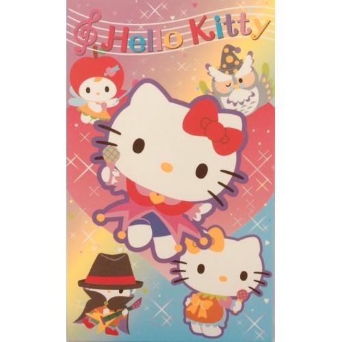 Ano 2007. Mini-Envelope Hello Kitty & Band Sanrio