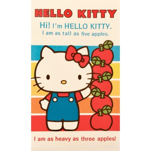 Ano 2007. Mini-Envelope Hello Kitty & Apples Sanrio