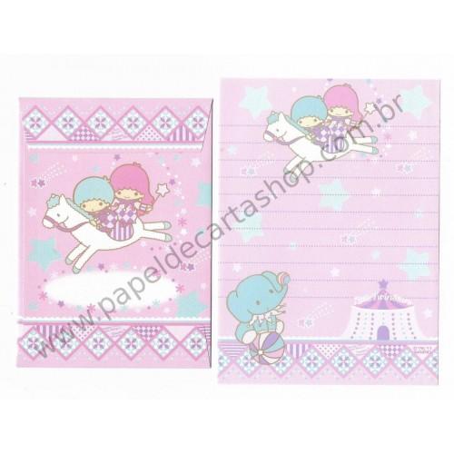 Ano 2011. Conjunto de MINI-Papel de Carta Little Twin Stars Sanrio