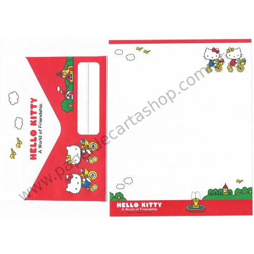 Ano 2011. Conjunto de Papel de Carta Hello Kitty Friendship Sanrio