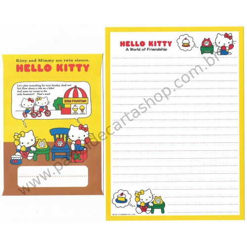Ano 2011. Conjunto de Papel de Carta Hello Kitty Friendship2 Sanrio
