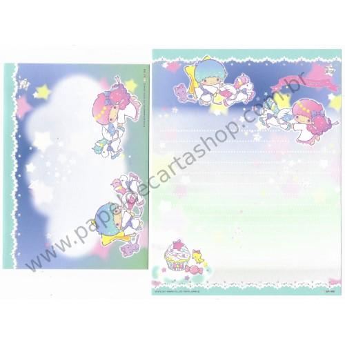 Ano 2017. Conjunto de Papel de Carta Little Twin Stars Chara Para CVD Sanrio