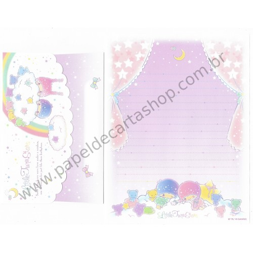 Ano 2016. Conjunto de Papel de Carta Little Twin Stars 7 Bears Sanrio