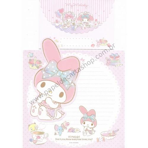 Ano 2016. Kit 2 Conjuntos de Papel de Carta My Melody Sanrio