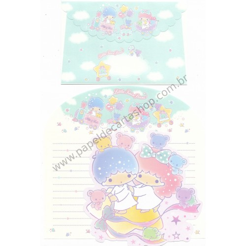 Ano 2017. Kit 2 Conjuntos de Papel de Carta Little Twin Stars Stars Sanrio