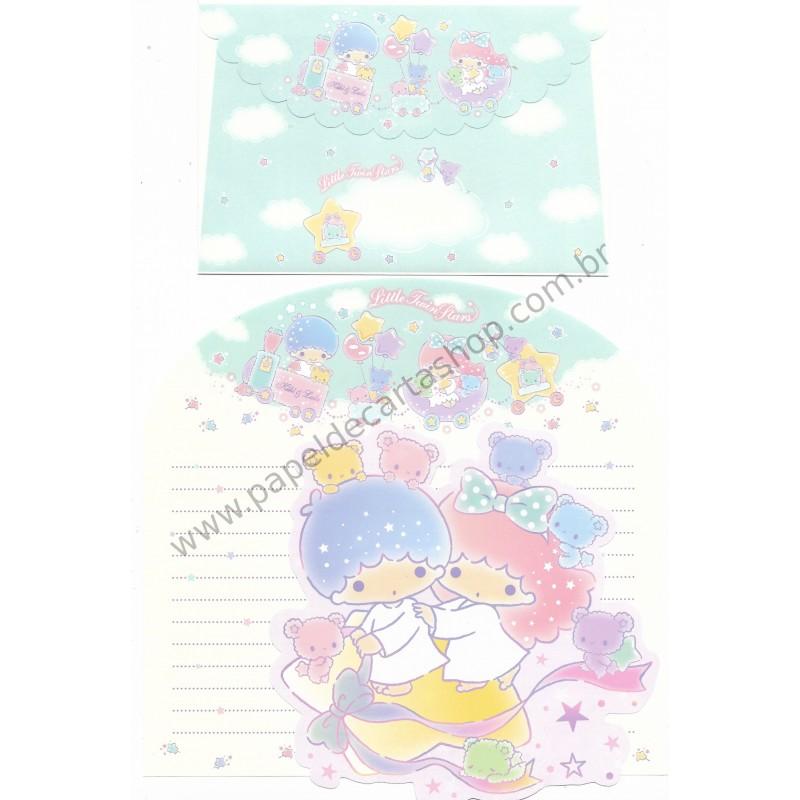 Ano 2017. Kit 2 Conjuntos de Papel de Carta Little Twin Stars Stars Sanrio