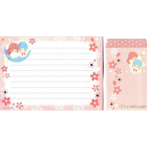 Ano 2013. Conjunto de Papel de Carta Little Twin Stars Made In Japan Sanrio