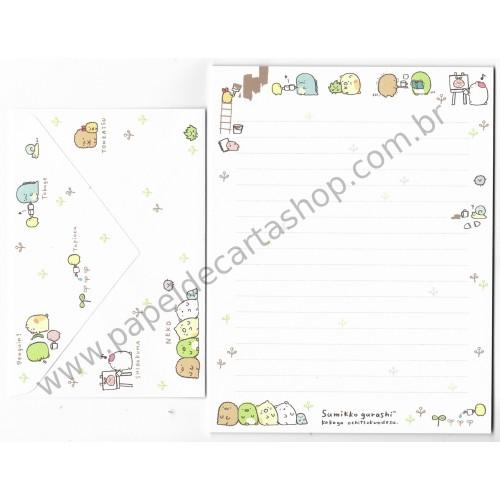 Kit 2 Conjuntos de Papel de Carta Sumikko Gurashi - SAN-X