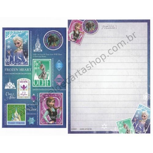 Conjunto de Papel de Carta Pequeno Importado Disney FROZEN CAZ Japan