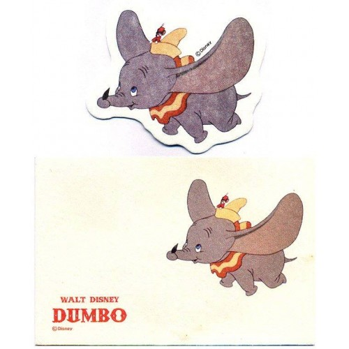 Conjunto de Mini-Cartão Importado Disney DUMBO Japan