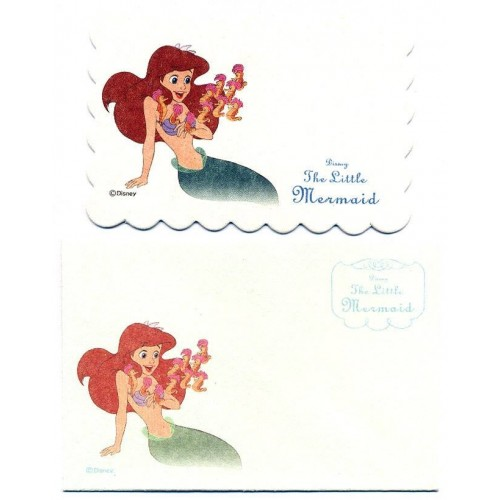 Conjunto de Mini-Cartão Importado Disney The Little Mermaid Japan